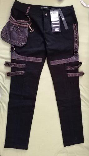 Punk Rave Pantalone a vita bassa multicolore Cotone