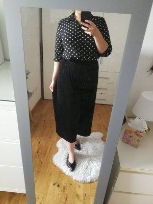 Punkte Bluse Polka Dots schwarz weiß