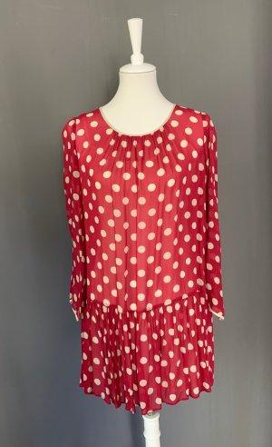 Punkte Kleid mit Volant
