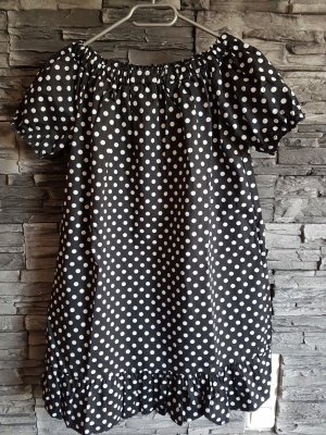 Made in Italy Long Blouse white-black