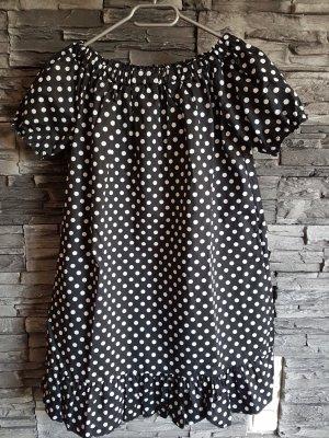 Made in Italy Długa bluzka biały-czarny