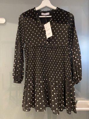 Zara Sukienka z falbanami czarny