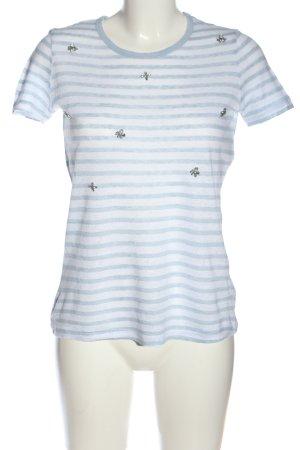 PUNT ROMA Ringelshirt blau-weiß Allover-Druck Casual-Look