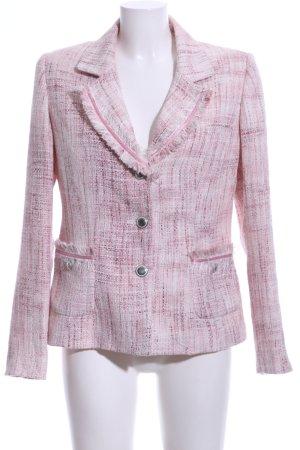 PUNT ROMA Tweedblazer weiß-pink meliert Business-Look