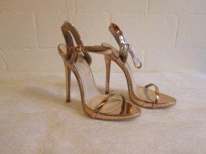 PUPLIC DESIPE: Heels rosegoldfarbene Sandalette, Gr. UK 4/ 37