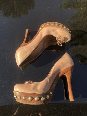 Pura Lopez Heels, Retro!!! Gr 38,5 rosé KP 220€