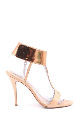Pura Lopez High Heel Sandaletten nude-bronzefarben Elegant