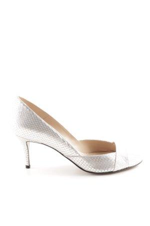 Pura Lopez High Heels silberfarben Allover-Druck Elegant