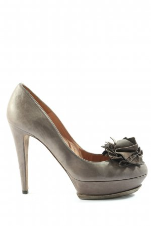 Pura Lopez High Heels hellgrau Casual-Look