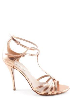 Pura Lopez High Heels bronzefarben Casual-Look