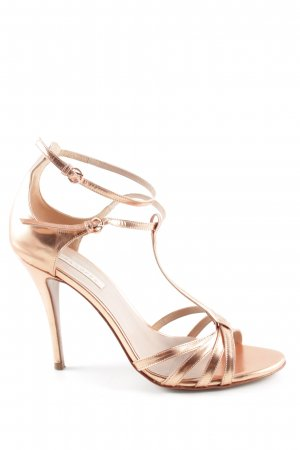 Pura Lopez High Heels bronzefarben Casual-Look