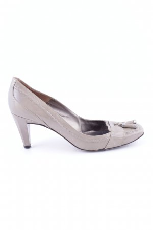 Pura Lopez High Heels hellgrau Business-Look