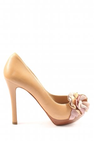 Pura Lopez Peeptoe Pumps nude-pink Casual-Look