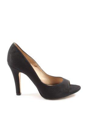 Pura Lopez Peeptoe Pumps schwarz Elegant