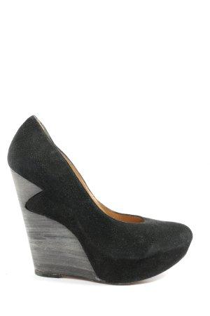 Pura Lopez Décolleté con plateau nero-grigio chiaro stile casual