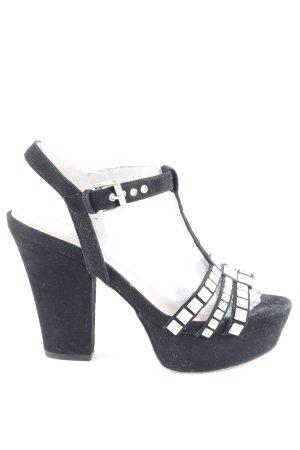 Pura Lopez Plateau-Sandaletten schwarz extravaganter Stil