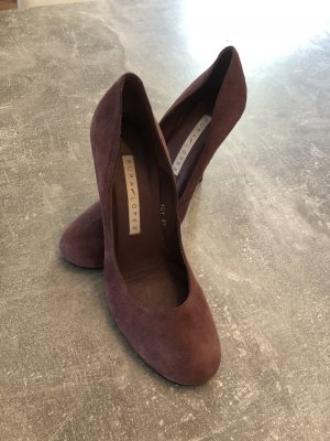 Pura Lopez Pumps Gr 39, Farbe Pflaume TOP! KP 230€