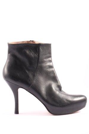 Pura Lopez Reißverschluss-Stiefeletten schwarz Casual-Look