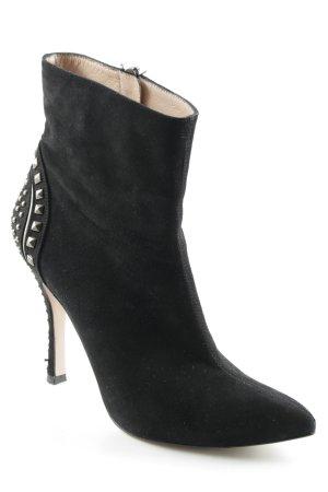 Pura Lopez Reißverschluss-Stiefeletten schwarz Party-Look
