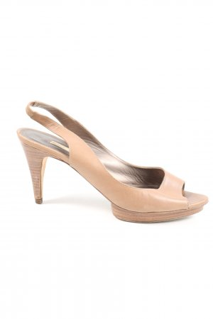 Pura Lopez Riemchen-Sandaletten creme Casual-Look