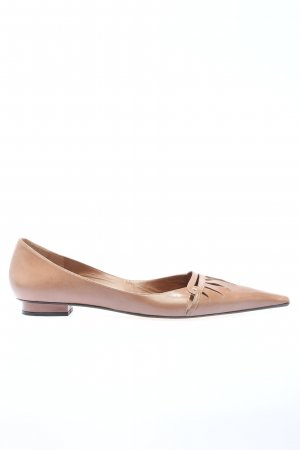 Pura Lopez Spitz-Pumps braun Casual-Look