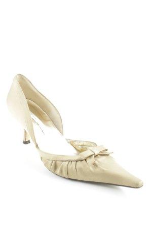 Pura Lopez Spitz-Pumps sandbraun Elegant