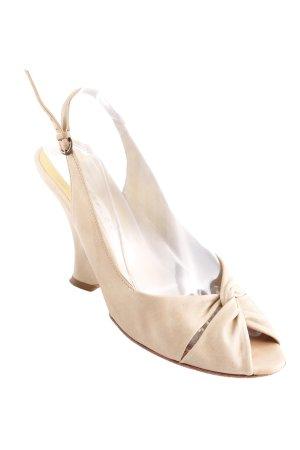 Pura Lopez Wedges Sandaletten creme Casual-Look