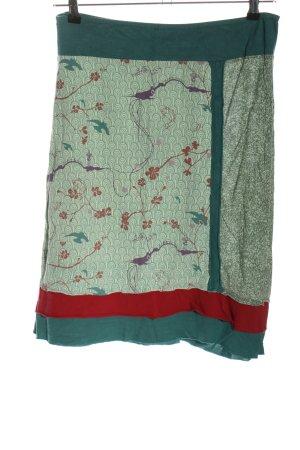 pura vida Broomstick Skirt allover print casual look