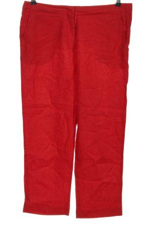 Purdey Pantalone di lino rosso stile casual