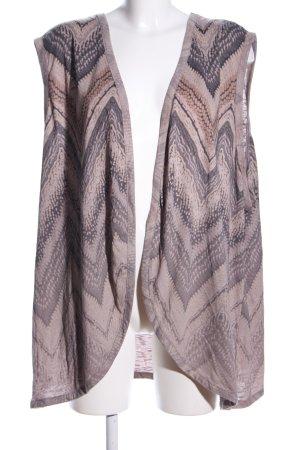 Pure by Ulla Popken Cardigan pink-braun abstraktes Muster Casual-Look