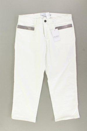 Pure Pantalon capri blanc cassé coton