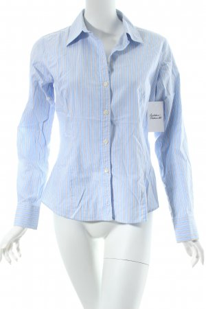 Pure Day Langarm-Bluse Streifenmuster Business-Look