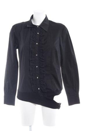 Pure Day Rüschen-Bluse schwarz-silberfarben Elegant