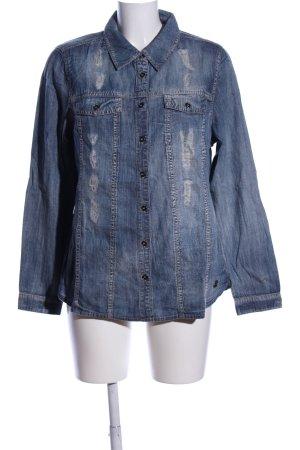 Pure Fashion Jeanshemd blau Casual-Look