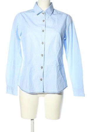 Pure Langarmhemd blau-weiß Streifenmuster Business-Look