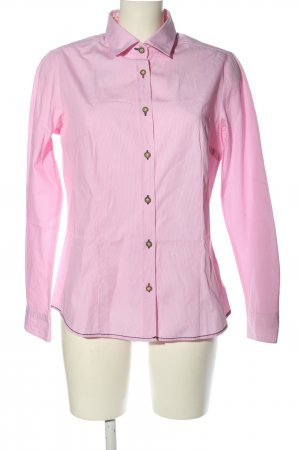 Pure Langarmhemd pink-weiß Streifenmuster Business-Look