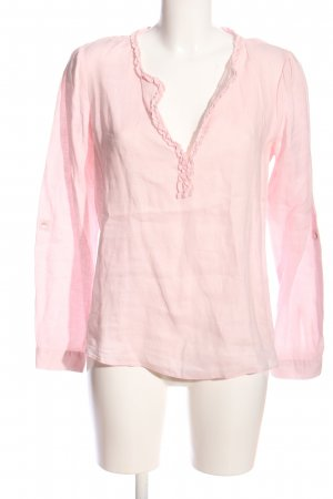pure linen Leinenbluse pink Casual-Look