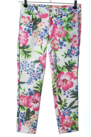 Five-Pocket Trousers allover print casual look