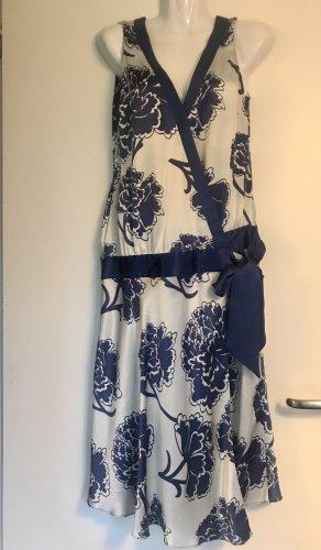 Oasis Wraparound white-dark blue silk