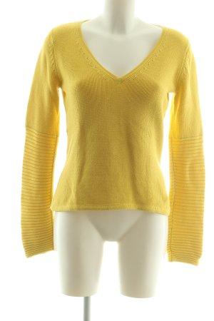 Pure V-Ausschnitt-Pullover blassgelb Casual-Look