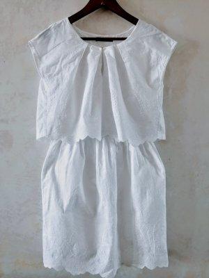 Sukienka z halką biały