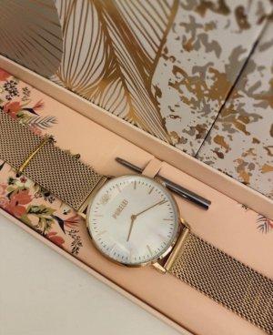 Purelei Horloge met metalen riempje roségoud