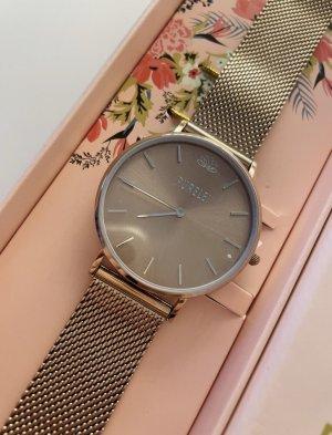 Purelei Horloge met metalen riempje brons