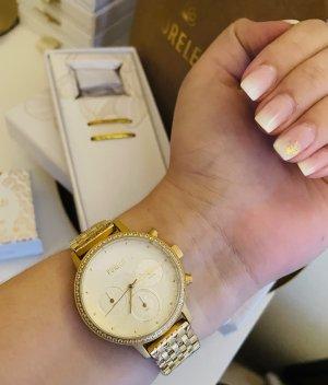 Purelei Reloj con pulsera metálica color oro