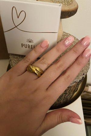 Purelei Bague incrustée de pierres doré