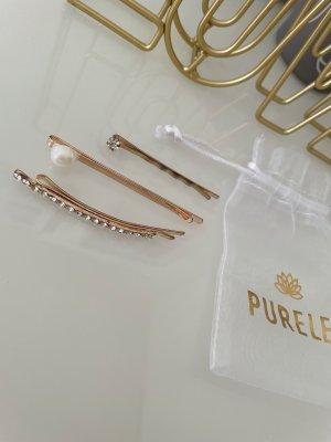 Purelei Klamra do włosów w kolorze różowego złota