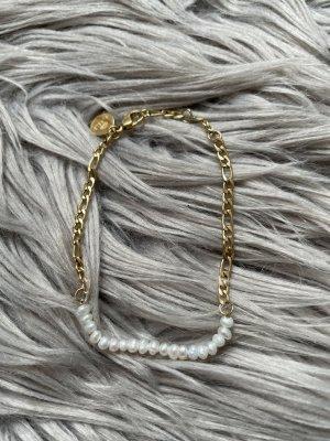Purelei Brazalete de perlas color oro