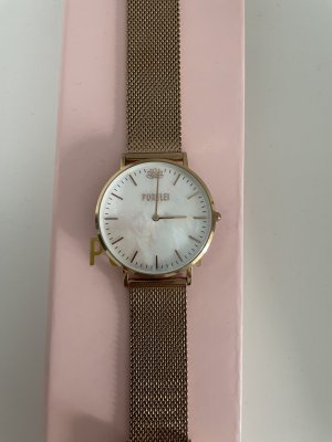 Purelei Watch With Metal Strap rose-gold-coloured