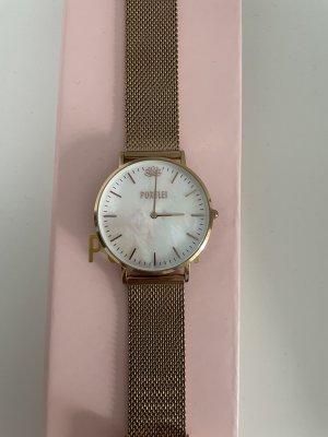 Purelei Zegarek z metalowym paskiem w kolorze różowego złota