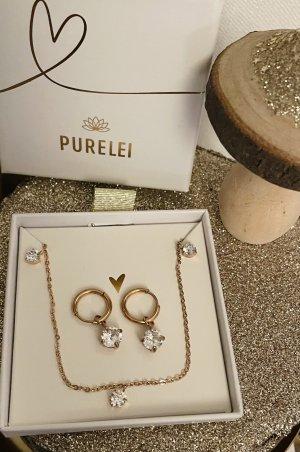 Purelei Parure bijoux or rose